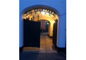 Bishops Storford Entrance to Therapy room<br />Entrance to courtyard and therapy room
