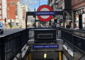 The closest tube is Chancery Lane (Central line)