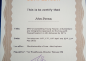 Integrative and humanistic counselling for young people certificate