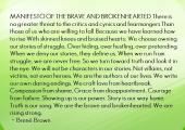 Manifesto of The Brave & Brokenhearted