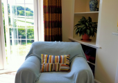 Light and airy room with views over the moor.