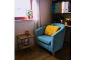 My little therapy room - A cosy and inviting room can help you to relax.