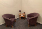 Inside counselling room in Guisborough