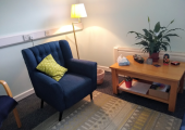 My bright, modern, and fully accessible counselling room