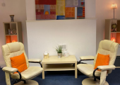 The Counselling room, a safe and private, pace to explore your thoughts and feelings.