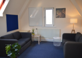 A comfortable counselling room at Therapy Huddersfield