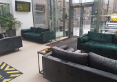 Client waiting area in Longcroft House