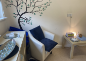 Sunlight counselling therapy room