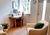 Calm, comfortable and private.  The clinic has it's own dedicated entrance.