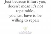 By repairing your owning it