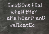 Talking through your emotions with someone you trust, is such an important part of healing.