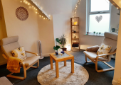 My cosy therapy room at Soul Fire Studios