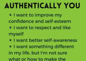 Be more authentically you