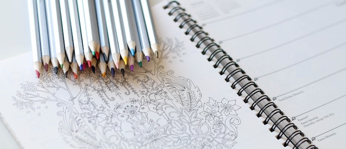 Tips to manage stress - colouring book