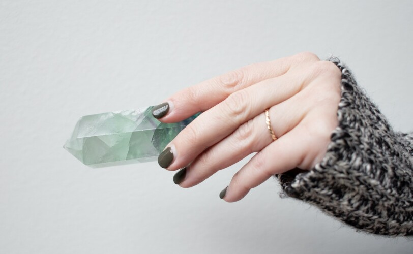 Holding a crystal