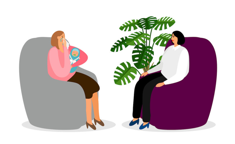 Post natal depression counselling session