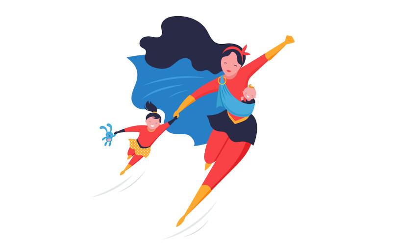 Super hero mum