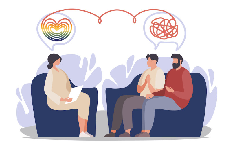 Illustration of couples counselling