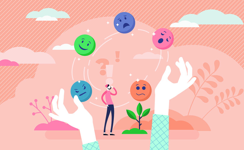 Illustrations of different emotions
