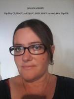 Joanna Hope - Dip.Hyp CS, Dip.PC, Ad Dip.PC, MHS, MNCS (Accred), O.A Dip (C.B)