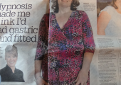 Lyn in the Daily Record for weight loss success
