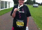 Jacqui Adam AFTER the virtual band<br />running the 10k after losing 10stone