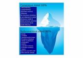 The subconscious mind versus the conscious mind.