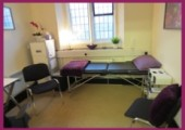 Relaxing, ground floor therapy room