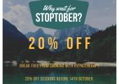 20% off stop smoking, valid until 14th October 2020