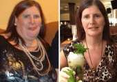 Janis A before and after Picture Andrew Nelson's weight loss programs