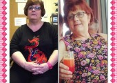 Alice before and after, has lost 5 stones