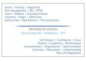 Hypnosis / Meditation / EFT<br />Unlocking Solutions
