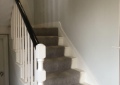 Stairs to first floor therapy rooms