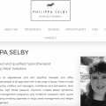 The homepage of Philippa Selby Hypnotherapy Website.