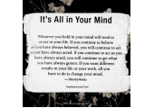 On the POWER of YOUR MIND ....