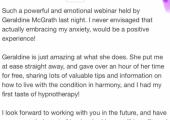 glowing 'how to embrace anxiety' webinar review