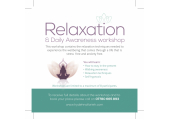 Relaxation and Daily Awareness Workshop