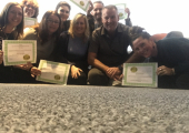 Equilibrium Training Venue in Blackpool - Participants receiving their NLP Diploma