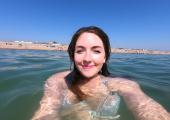 Coaching in the sea!