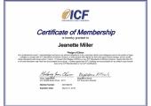 ICF Membership Certificate<br />ICF Membership Certificate