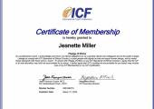 ICF Certificate of Membership 2019