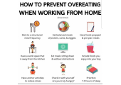 How to prevent overeating whilst working from home? - See my tips for avoiding the overeating whilst working from home #overeating #selfisolation #workingfromhome