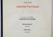 Association Of Coaching Membership Certificate