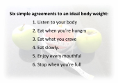 How to lose weight