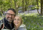 Bluebell walk with my wife, Jess.