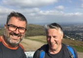 The Malvern Hills with good friend Ed.