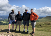 Lord Hereford's Knob, Brecon Beacons National Park with mates.