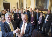 Receiving an award at the Institute of Directors
