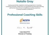 ACSTH Coaching Certificate