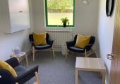 Consultation room at the Wellness Hub, Falmouth